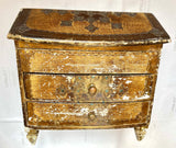 Florentine Painted & Parcel-gilt Miniature Chest