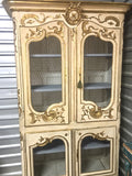 19th-Century Italian Four-door Painted and Parcel-gilt Armoire