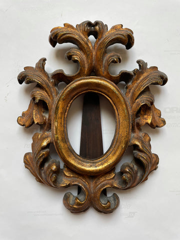 19th-C Italian Baroque Hand-carved Gilt Frame