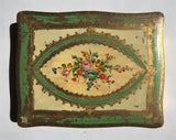 1940s Filigree Florentine Hand-painted Box
