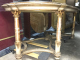 Italian Carved and Gilt Wood Marble Table