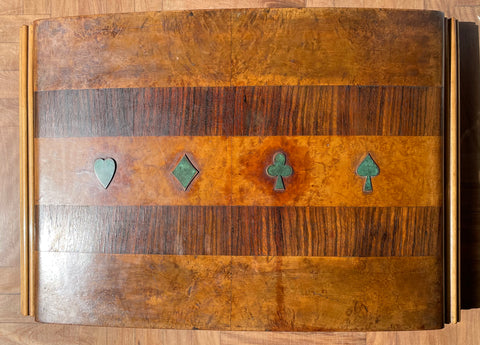 Italian Art Deco Wooden Games Box