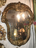 1940s Italian Carved and Gilt Wooden Mirrors, Pair