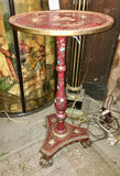 Italian Painted and Parcel Gilt Prince of Wales Side Table