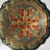 Medium Painted and Parcel-gilt Florentine Tray