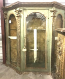 18th-Century Italian Parcel-gilt Wall Cabinet