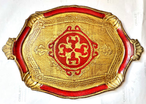 Florentine Ruby Red Tray