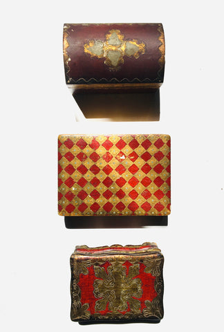 Three Painted and Parcel-gilt Florentine Boxes   *FREE SHIPPING*