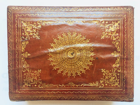 Italian Leather and Wood Box w/Filigree