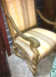 Italian Carved and Gilt Throne
