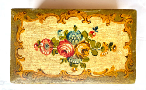 Venetian Hand-decorated Wooden Box