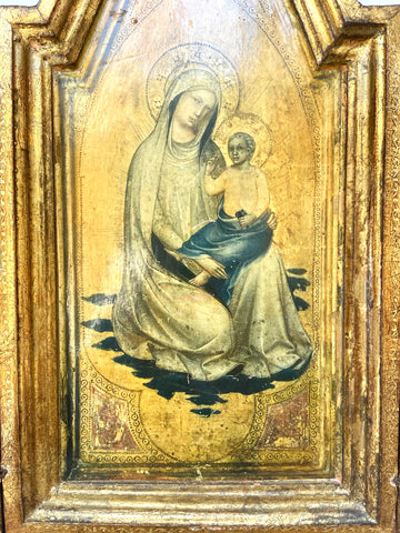 1940s Florentine Gilt Religious Tryptic