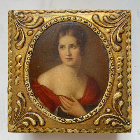 Florentine Gilt Box w/Lady Portrait