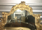 Late 19th-C Italian Carved and Gilt Buffer Mirror