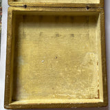 Florentine Painted & Parcel-gilt Wooden Box with Bouquet & Calamine Frame