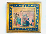 Religious-themed Painted & Gilt Image with Florentine Filigree Frame