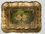 Three Painted and Parcel-gilt Small Florentine Trays   *FREE SHIPPING*