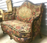 Italian Needlepoint Tapestry Upholstered Canape