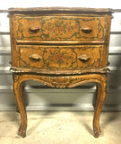 1950s Two-drawer Italian Venetian Painted Chest