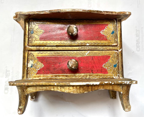 1960s Florentine Painted & Parcel-gilt Box