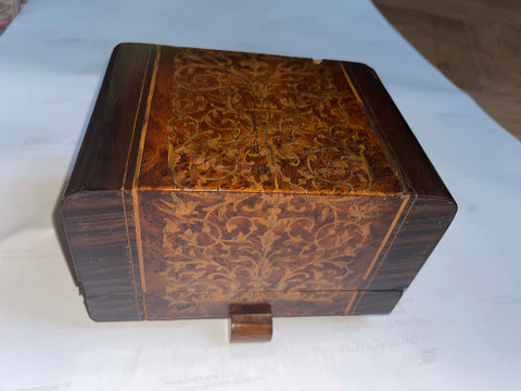 1940s Italian Deco Inlaid Wooden Box
