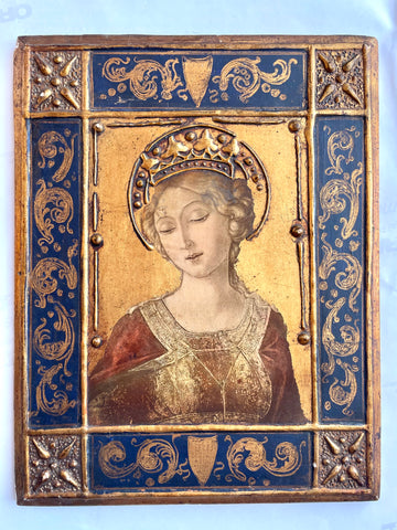 Florentine Painted & Parcel-gilt Religious Icon