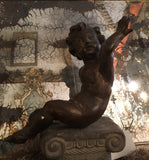 19th-Century Italian Carved Wood Putto