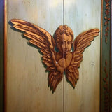 19th-C Italian Carved & Painted Altar Cabinet