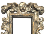18th-C Silver-gilt Baroque Frames w/Angels, Pair