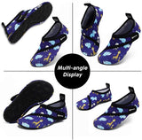 VIFUUR Kids Water Shoes Animal Blue Girls Boys