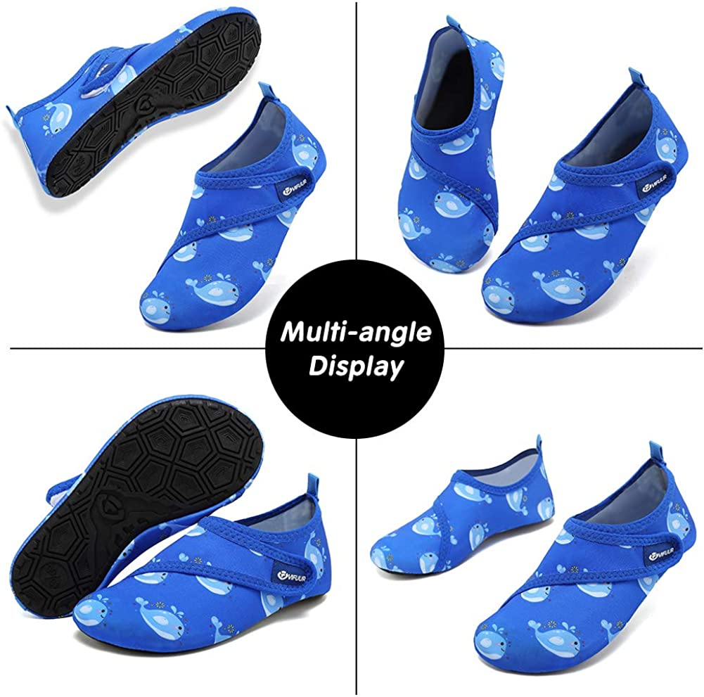 VIFUUR Kids Water Shoes Blue/Whale Girls Boys
