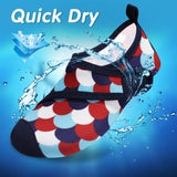 VIFUUR Kids Water Shoes Red Blue Scale Girls Boys