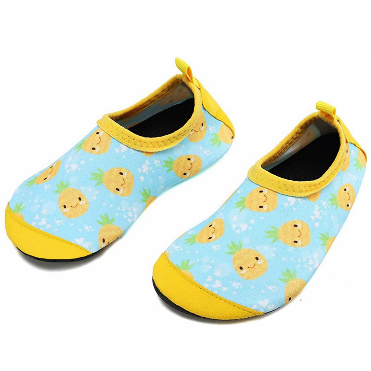 VIFUUR Girls Boys Athletic Water Shoes Pineapple Yellow