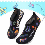VIFUUR Girls Boys Athletic Water Shoes Car Sticker Black