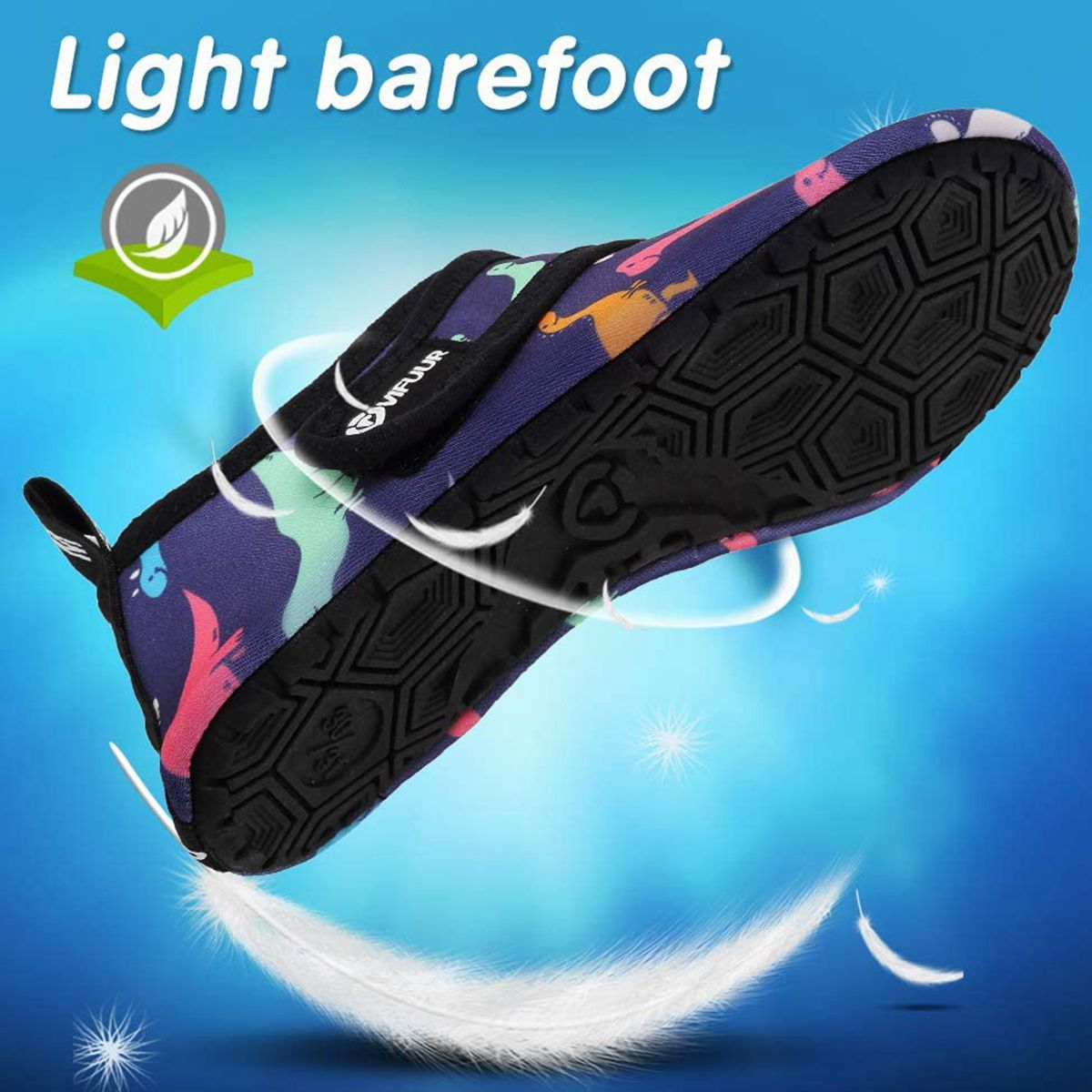VIFUUR Kids Water Shoes Dinosaur Girls Boys
