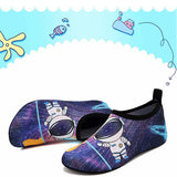 VIFUUR Girls Boys Athletic Water Shoes Astronaut