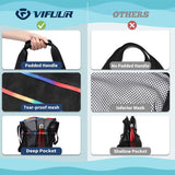 VIFUUR Mesh Beach Bag Large Toy Sandbeach Tote Bag