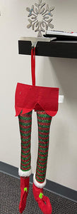 Elf Christmas Decorations for Your Vehicle or Fireplace - Hanging Elf Legs for Car Perfect for Holiday Cheer Christmas Car Decoration and Accessories