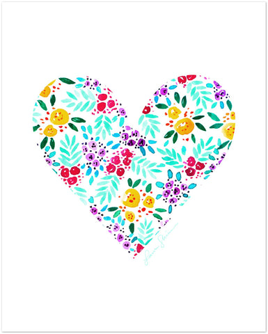 Floral Heart (Print)