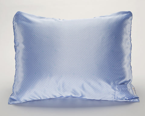 Blue Pin Dot Satin Pillowcase for Women & Teens