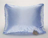 Blue Satin Pillowcase with Lavender Sachet for Women