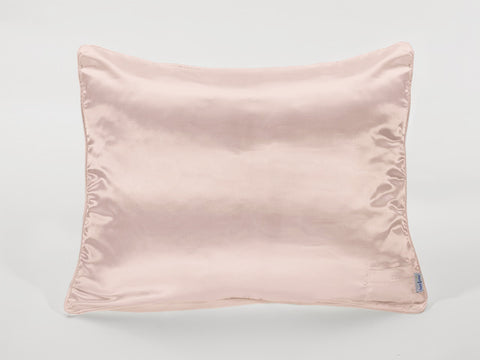 Dusty Pink Satin Pillowcase for Women and Teens