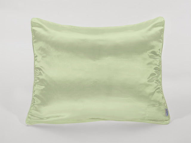 Apple Green Satin Pillowcase for Girls with Harriet Doll