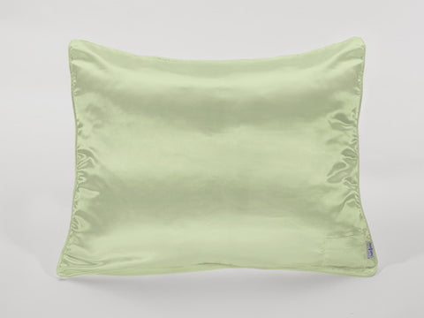 Apple Green Satin Pillowcase for Kids