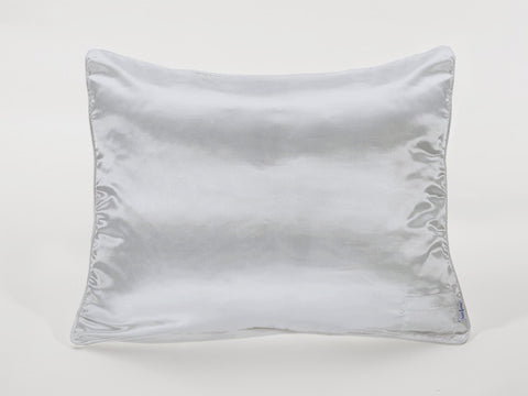 Light Grey Satin Pillowcase for Kids