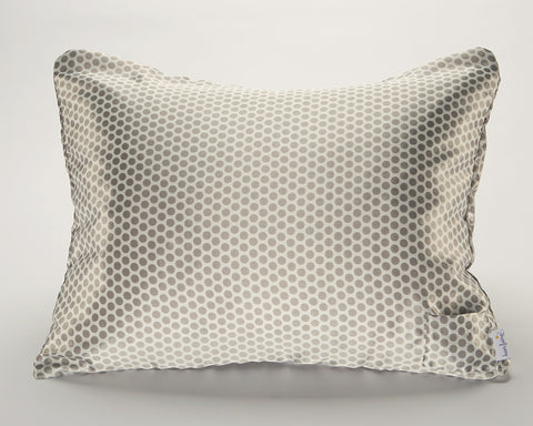 Grey Polka Dot Satin Pillowcase for Women/Teens
