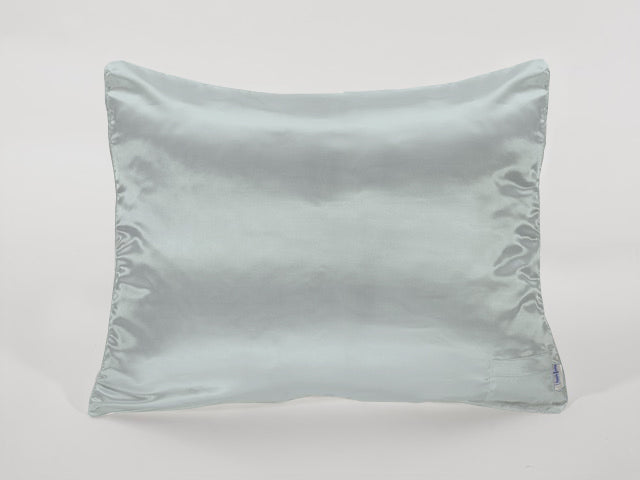 Seafoam Blue Satin Pillowcase for Women & Teens