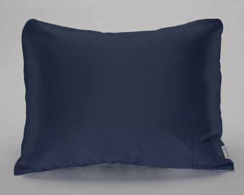 Navy Satin Pillowcase for Kids