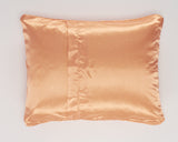Orange Satin Pillowcase for Girls Back