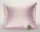 Pink Pin Dot Satin Pillowcase with Lavender Sachet for Women